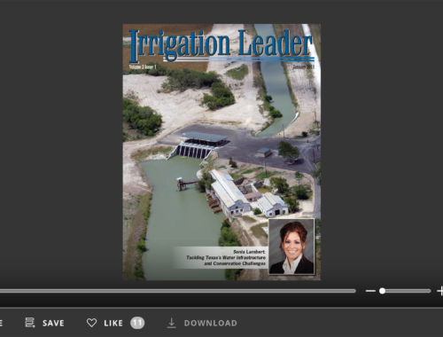 Screenshot of flipbook PDF reader for Irrigation Leader January 2011