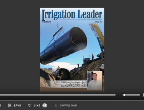 Screenshot of flipbook PDF reader for Irrigation Leader February 2011