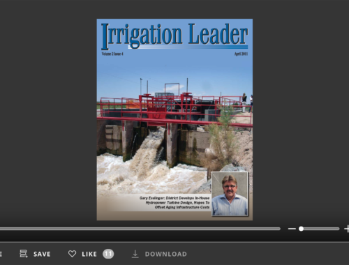 Screenshot of flipbook PDF reader for Irrigation Leader April 2011