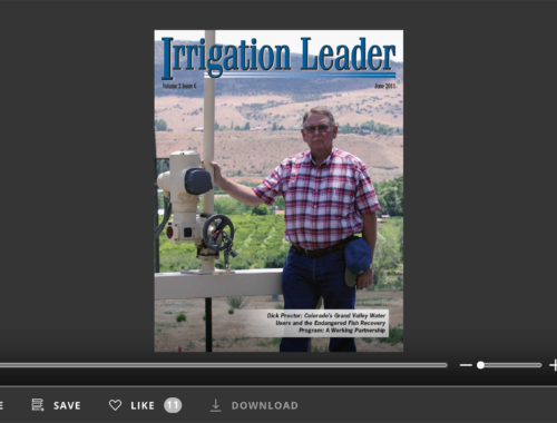 Screenshot of flipbook PDF reader for Irrigation Leader June 2011