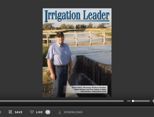 Screenshot of flipbook PDF reader forIrrigation Leader October 2011