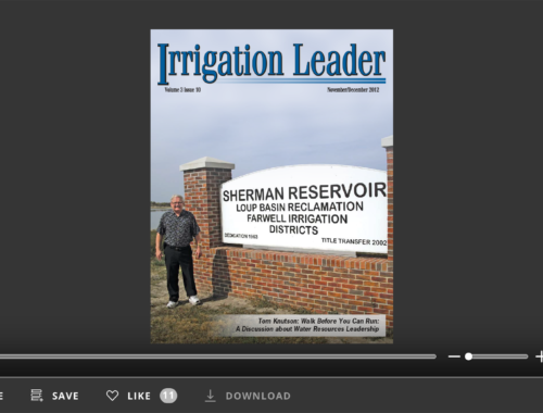 Screenshot of flipbook PDF reader for Irrigation Leader November/December 2012