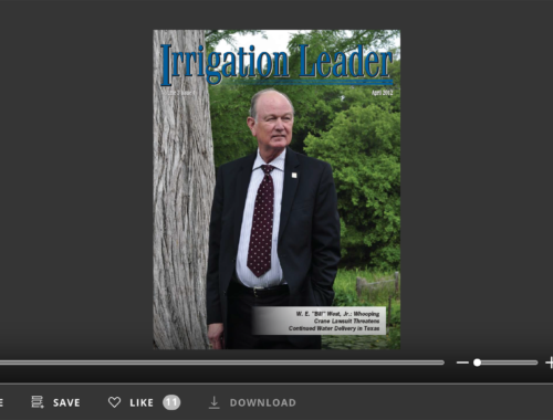 Screenshot of flipbook PDF reader for Irrigation Leader April 2012