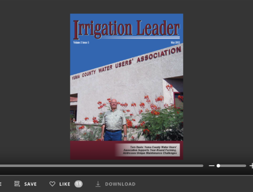 Screenshot of flipbook PDF reader for Irrigation Leader May 2012