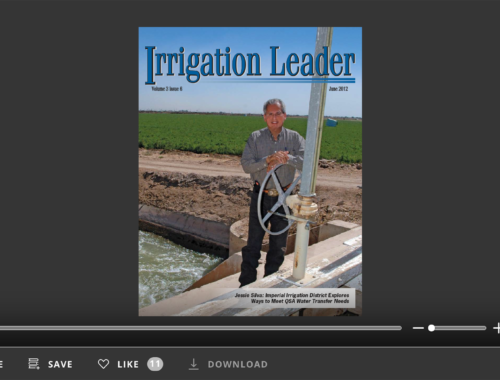 Screenshot of flipbook PDF reader for Irrigation Leader June 2012