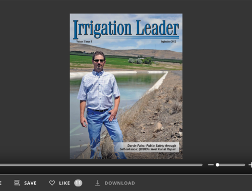 Screenshot of flipbook PDF reader for Irrigation Leader September 2012