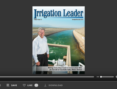Screenshot of flipbook PDF reader for Irrigation Leader November/December 2013