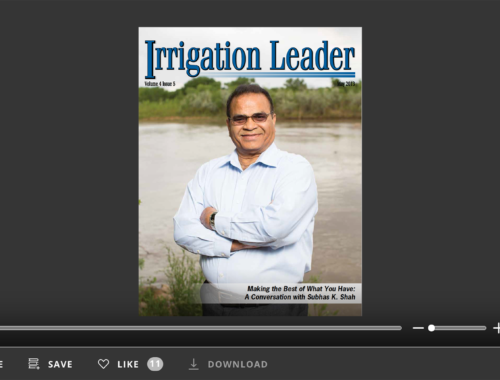 Screenshot of flipbook PDF reader for Irrigation Leader May 2013