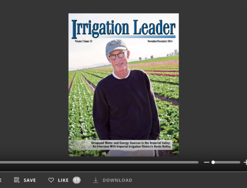 Screenshot of flipbook PDF reader for Irrigation Leader November/December 2014