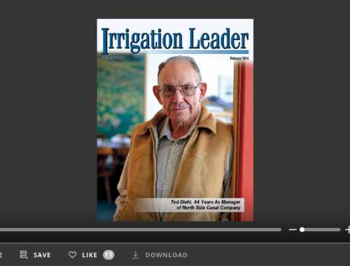 Screenshot of flipbook PDF reader for Irrigation Leader February 2014