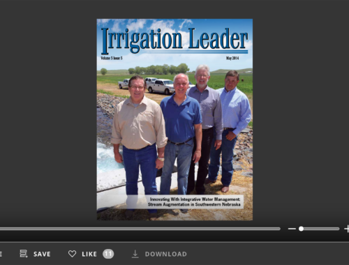 Screenshot of flipbook PDF reader for Irrigation Leader May 2014