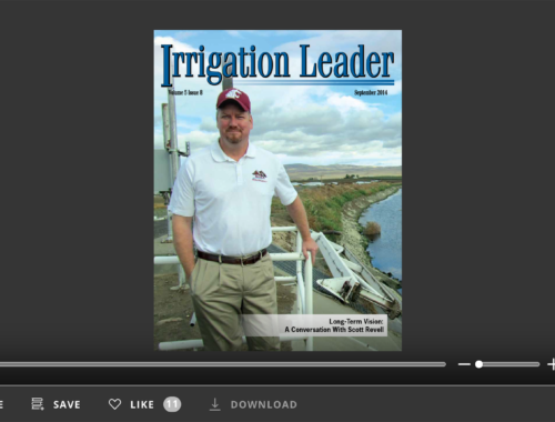Screenshot of flipbook PDF reader for Irrigation Leader September 2014