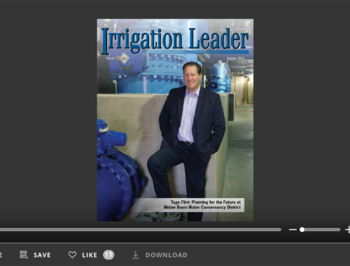 Screenshot of flipbook PDF reader for Irrigation Leader October 2014