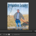 Screenshot of flipbook PDF reader for Irrigation Leader January 2015