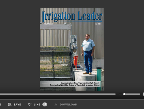 Screenshot of flipbook PDF reader for Irrigation Leader June 2015