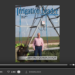 Screenshot of flipbook PDF reader for Irrigation Leader April 2016