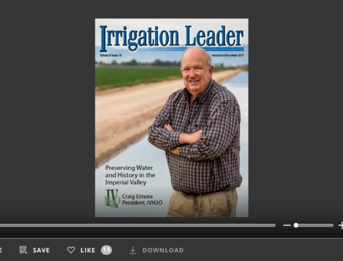 Screenshot of flipbook PDF reader for Irrigation Leader November/December 2017