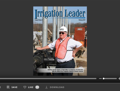 Screenshot of flipbook PDF reader forIrrigation Leader February 2017