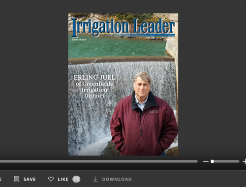 Screenshot of flipbook PDF reader for Irrigation Leader October 2017