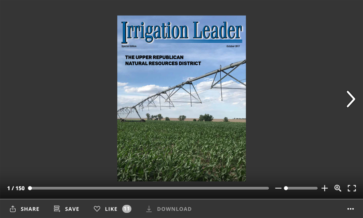 Irrigation Leader Special Edition December 2017. Upper Republican Natural Resources District.