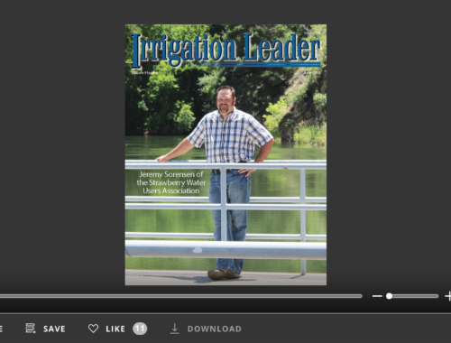 Screenshot of flipbook PDF reader for Irrigation Leader October 2010