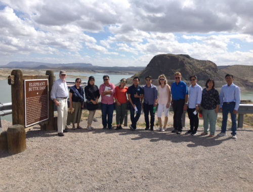 Photo of tour group at Elephant Butte Dam