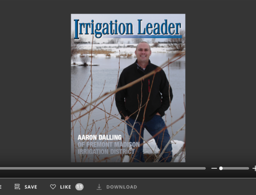 Screenshot of flipbook PDF reader for Irrigation Leader November/December 2018. Volume 9 Issue 10.